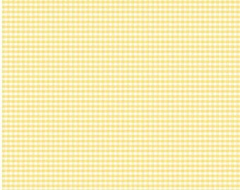Yellow Small Gingham Fabric by Riley Blake Designs - By the Yard - 1 Yard - C440-50
