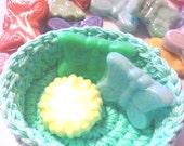 Nesting Bowls, Crochet bowls, Storage Bowls, Individual Bowl, Spring Gift Basket