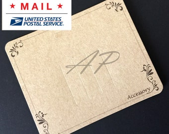 Free Shipping via Priority Mail 600pc Imprint Hair Clip Display Card in Brown Kraft Paper card for DIY Accessory(DC-20)