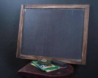 """Primitive Slate School Chalkboard w/ Wood Frame 21"""" x 17"""""""