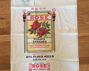 Vintage Flour Sack Fabric Panel