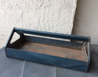 Vintage Blue Tool Tote Tray