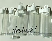 "Plastic Bead Vials (50) . DESTASH Bead Storage Clear Tubes 2-1/4"" x 9/16"" Hangtab Bead Supplies Store Organize Beads Confetti 7 gram"