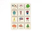 Holiday - Magnet Set of 12 - Calendar Magnets