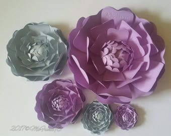 Large Monogrammed Paper Flowers in the Colors of Your Choice