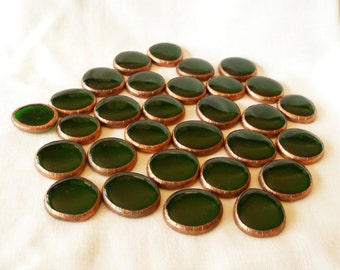 Emerald Glass Nuggets, Emerald Green Globs, Stained Glass Supplies