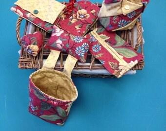 Pincushion Thread Catcher and accessories