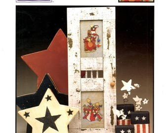 4th Fourth of July Red White Blue Stars Moon Fireworks Turkey Counted Cross Stitch Embroidery Craft Pattern Leaflet