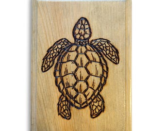 Sea Turtle Wood Burning
