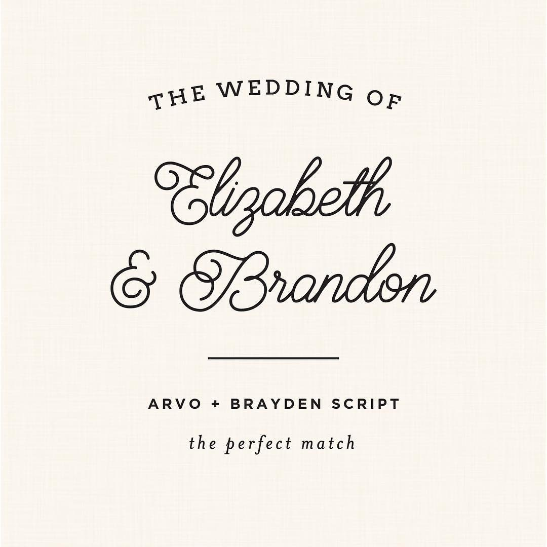 Free wedding script fonts