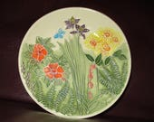 "Sweet Garden Handmade Ceramic wall hanging   5""                                              209"