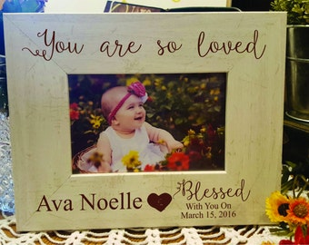 Personalized Baby Picture Frame, Christmas Gift Baby Frame, Personalized Baby Frame, Newborn Baby Gift, Engraved Newborn Gift, Baby Gift