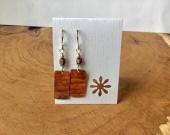 Repurposed Roofing Copper earrings