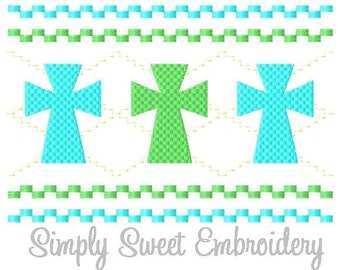 Faux Smocking Cross Machine Embroidery Design