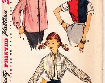 Vintage 1950 Simplicity 4529 UNCUT Sewing Pattern Misses' Dress and Jacket Size 11 Bust 29