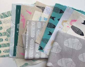Screen Printed Fabric Scrap Packs