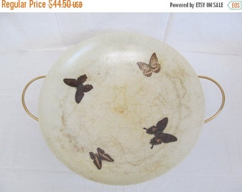 ON SALE Vintage  Large Fiberglass Butterfly Planter  Bowl