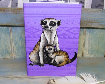 A5 Meerkats Illustration Journal ~ Notebook with 48 Lined Pages