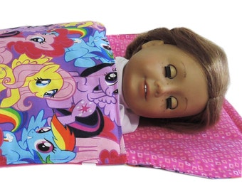 My Little Pony 18 inch Doll Sleeping Bag fits American Girl Doll  18 inch doll bedding