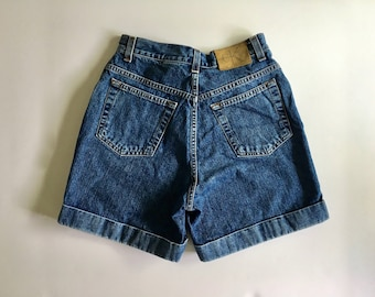 Vintage Women's 90's CK Jeans, Denim Shorts, High Waisted (XS)