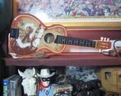 Vintage Roy Rogers Guitar, Roy Rogers Children's Guitar, Roy Rogers Toy Guitar, 1980's Toy Roy Rogers Guitar, Western Movie Star Toy Guitar