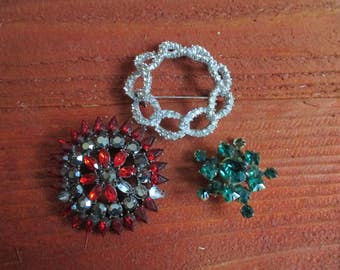 Broken Rhinestone Jewelry for Repurpose, Missing Rhinestones, Jewelry Supplies, Rhinestone Jewelry Bouquet