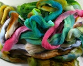 Mixed Fiber Bag #8 for spinning and felting (4 ounces), wool top