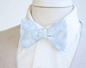 Bow Ties, Bow Tie, Bowties, Mens Bow Ties, Freestyle Bow Ties, Self-Tie Bow Ties, Ties, Rifle Paper Co - PRE-ORDER Queen Anne In Pale Blue