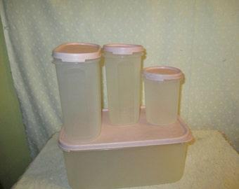 Tupperware  Modular Mates Storage Pale pink 4 Piece with Lids