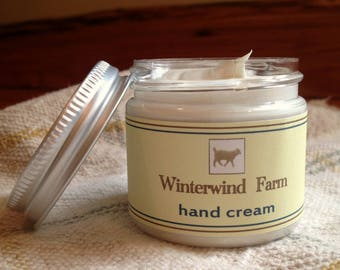 Spinner's Hand Cream -  Homemade Lavender, Rosemary Verbena, Coconut Lime, Mango, unscented,  beeswax, lanolin, sweet almond oil, jojoba
