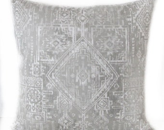 Pillow Cover - Sioux Grey - Tribal - Boho Chic