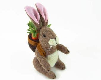 Bunny Rabbit, Easter Bunny, toy rabbit, waldorf rabbit, wool bunny, waldorf toy, waldorf easter bunny, stuffed toy, stuffed animal