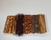ice yarns SAMPLES fiber art bundle cards brown orange shades lurex eyelash knots alpaca butterfly scrap booking knitting crochet supply