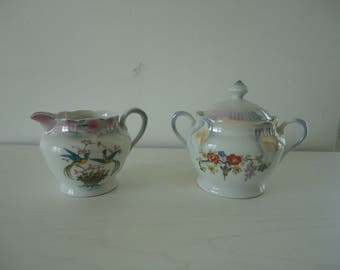 Antique Cream and Sugar Bowl Made in Germany