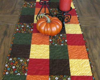 SALE Fall Quilted Table Runner
