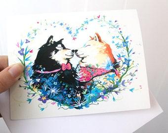 The Heart of a Shiba Greeting Card