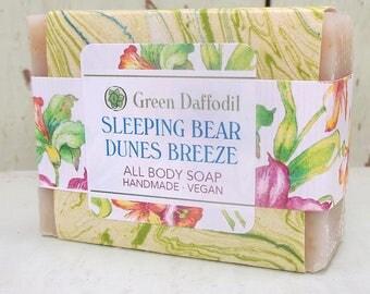 Sleeping Bear Dunes Breeze Bar of Soap - Green Daffodil
