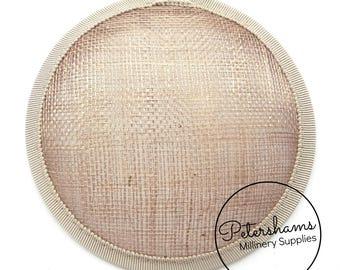 11cm Round Sinamay Fascinator Hat Base for Hat Making Millinery - Mink