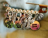 Coexist safety pin, all major faiths, marriage equality, peace, mother earth. Genuine TierraCast (TM)