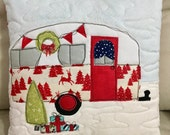 """Holiday Camper Pillow 12"""" x 12"""""""