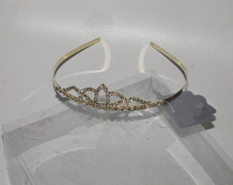 Crown Tiara, Gold silver Bridal , Wedding hair accessory pageant birthday princess sweet 16 bridesmaid party belle sofia pageant