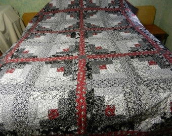 Log Cabin Queen Quilt #1