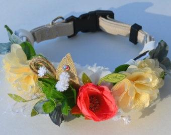 Dog Collar Slide - Wedding - Flower Collar Accessory
