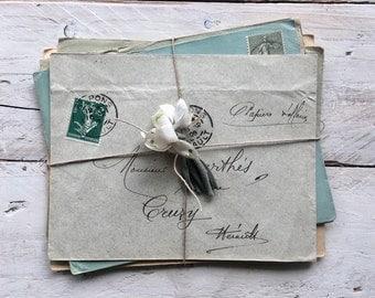 Vintage french envelope bundle