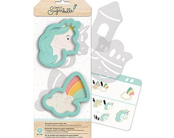 Unicorn Cookie Cutter Set, Sweet Sugarbelle Cookie Cutter Kit, Enchanted Cookie Cutters, Unicorn Cookie Cutter, Rainbow Cookie Cutter