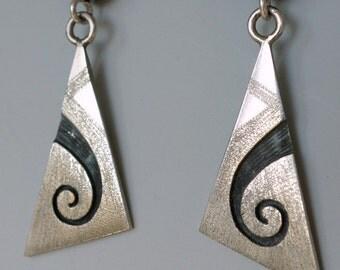 Hopi Sterling Spiral Earrings
