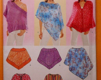 Poncho Sewing Pattern UNCUT New Look Sizes 6-24