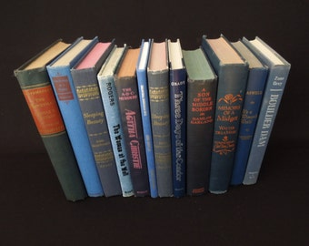 Blue Books by the Foot - Books for Decor - Books by Color - HGTV Decorative Ideas - Home Decor Instant Library
