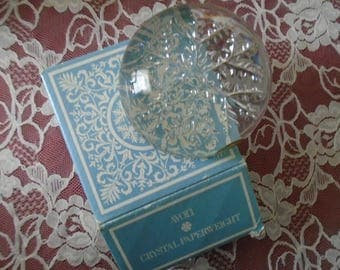Avon Crystal Paperweight  Snow Flake   Made In France  Original Box