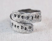 Personalized Mothers Ring, Personalized Wrap Ring, Custom Wrap Ring, Mothers Name Ring, Christmas Gift for Her